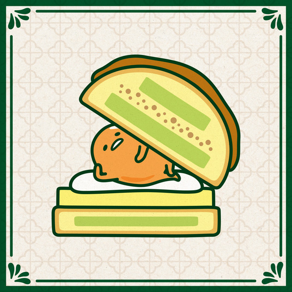 Gudetama Pineapple Bun illustration