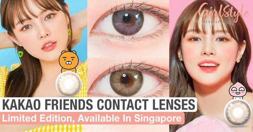KAKAO FRIENDS Contact Lenses Are A Thing And You Can Get Them In Singapore In 4 Colours