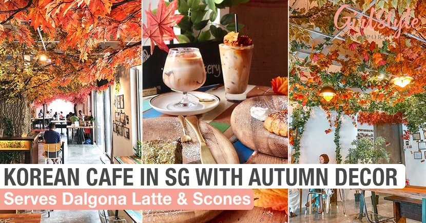 Kreams Krafthouse: New Korean Cafe In SG With Dalgona Latte, Autumn Decor & Scones