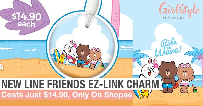There's A New LINE FRIENDS EZ-Link Charm With A Summery Beach Theme, Only On Shopee