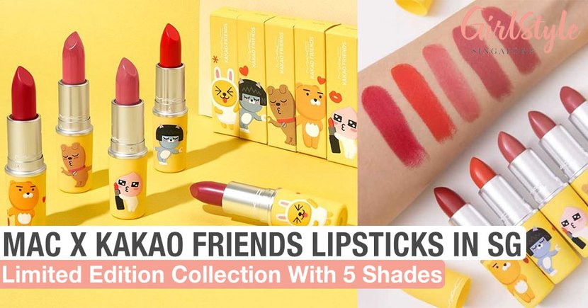 MAC x KAKAO FRIENDS Lipstick: New Limited Edition Collection Of 5 Shades In Singapore