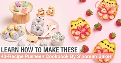 Singaporean Baker Creates Pusheen Cookbook So You Can Learn To Bake Cute Character Confections