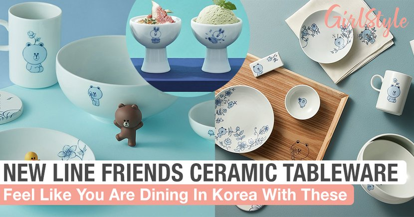 New LINE FRIENDS Ceramic Tableware Will Make You Feel Like You Are Dining In Korea