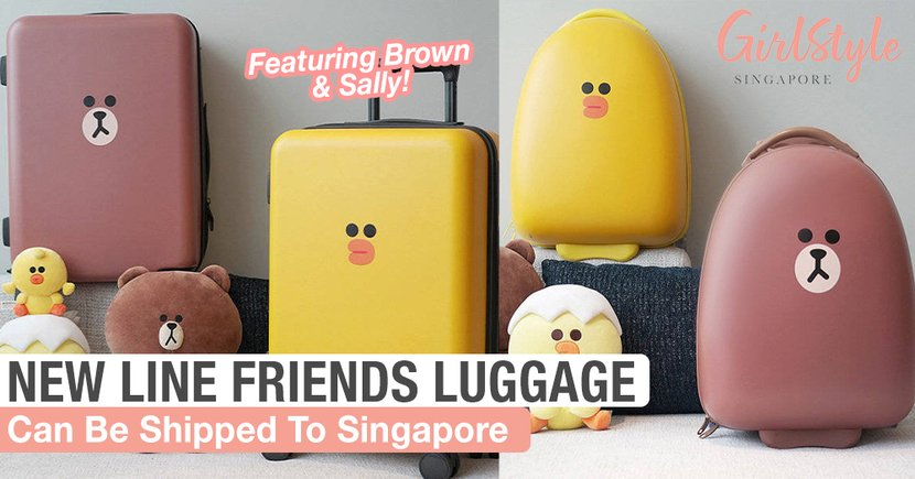 New LINE FRIENDS Brown & Sally Luggage, Can Be Shipped To Singapore