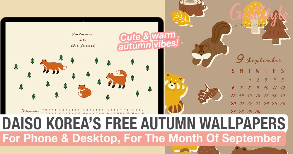 Daiso Korea S New Wallpapers With Warm Autumn Vibes For Sept Girlstyle Singapore