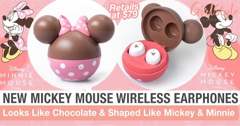 New Mickey & Minnie Mouse Wireless Chocolate Edition Earphones By InfoThink X Disney