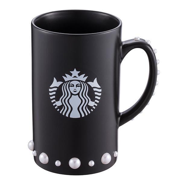 Starbucks Taiwan rebecca minkoff black mug with pearls