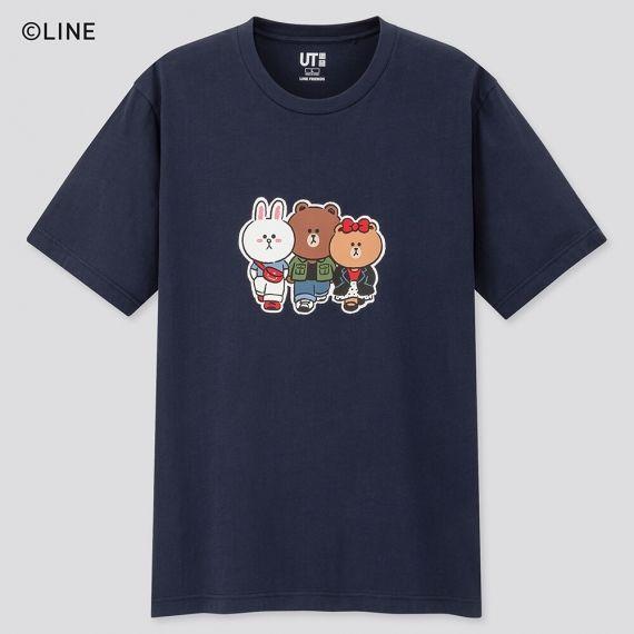 LINE FRIENDS shirt in blue
