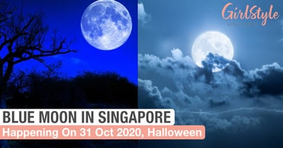 A Rare Blue Moon Will Appear In Singapore On Halloween, 31 October 2020
