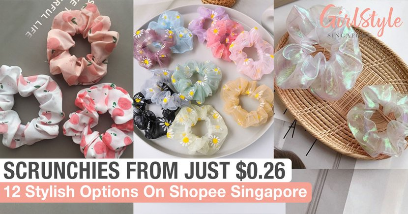 12 Stylish & Affordable Hair Scrunchies In Singapore From Just $0.26 To Dress Up Your Ponytails With