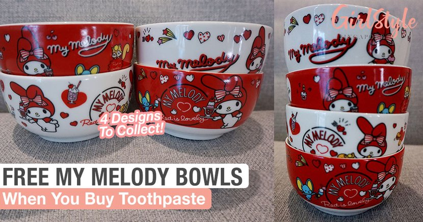 Get Free Limited Edition My Melody Bowls When You Purchase Darlie Toothpaste