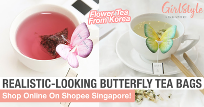 A Butterfly Rests On Your Cup When You Use This Korean Tea Bag From Shopee Singapore