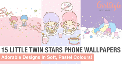 15 Adorable Pastel Little Twin Stars Phone Wallpapers To Brighten Your Day