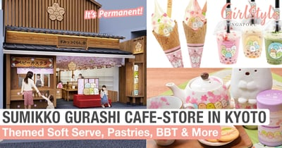 Sumikko Gurashido: New San-X Character Cafe-Store In Kyoto With Soft Serve, Pastries & BBT