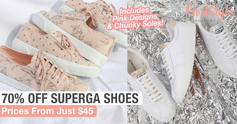 Superga Sale: Up To 70% Off Shoes Including Pastel Pink Options, Chunky Soles & Iridescent Details
