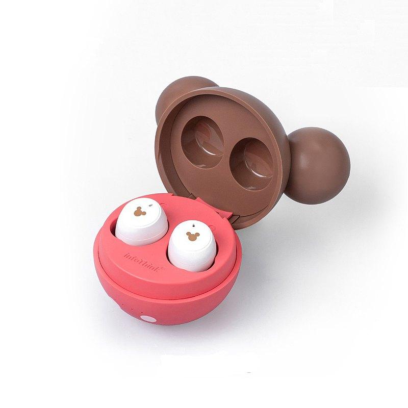 InfoThink Disney Series True Wireless Bluetooth Earphones - Mickey Mouse Strawberry Chocolate Edition