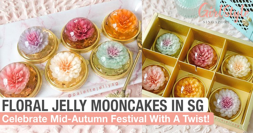 These Beautiful Floral Jelly Mooncakes Will Let You Celebrate Mid-Autumn Festival With A Twist
