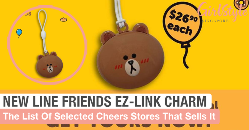 New LINE FRIENDS EZ-Link Charm Featuring The Adorable Brown Is Available Now