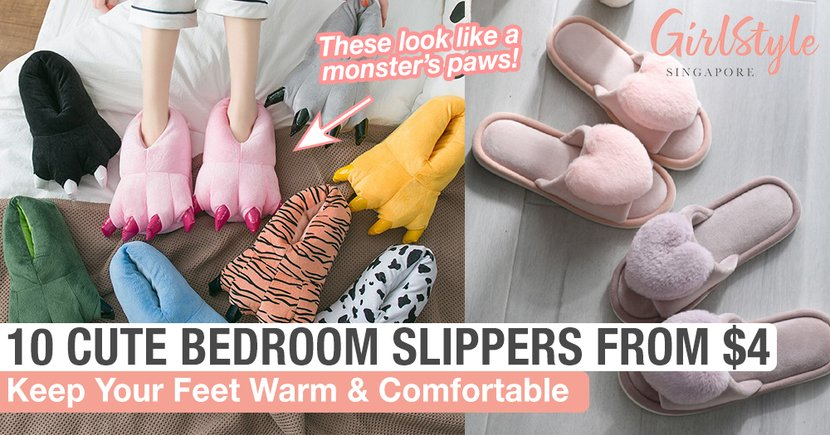 10 Cute Bedroom Slippers From $4 In Singapore To Keep Your Feet Warm & Comfortable