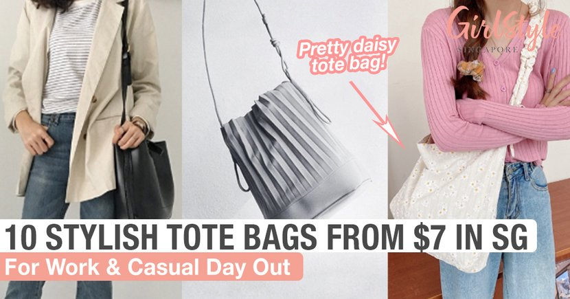 10 Stylish Tote Bags From $7 In Singapore For The Ladies Who Prefer Spacious Bags