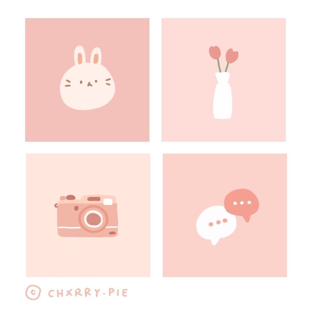 cute pink ios14 iphone app icons