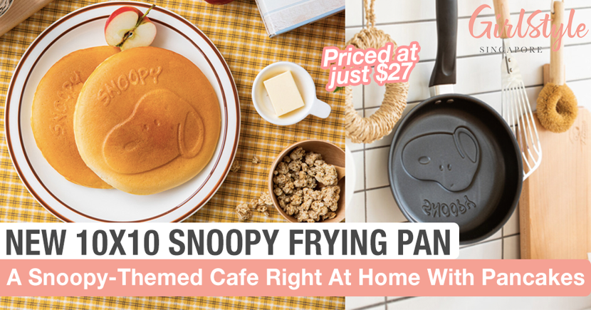 New 10x10 Snoopy Frying Pan Makes It Easy To Make Cute Snoopy Pancakes