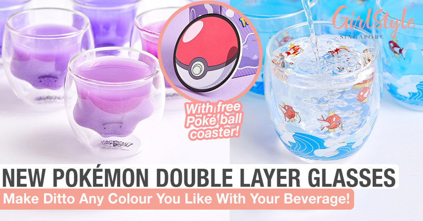 New Pokémon Double Layer Glass Cup Reveals Ditto When Filled With Your Beverage