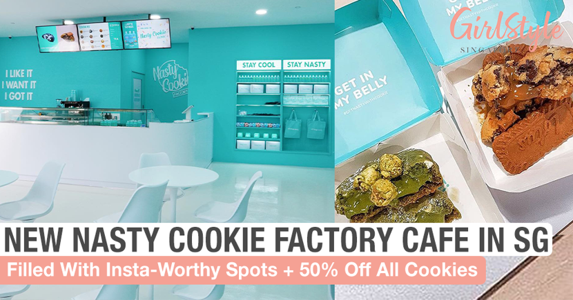 Get 50% Off All Cookies At The New Insta-Worthy Nasty Cookie Factory Cafe In Singapore