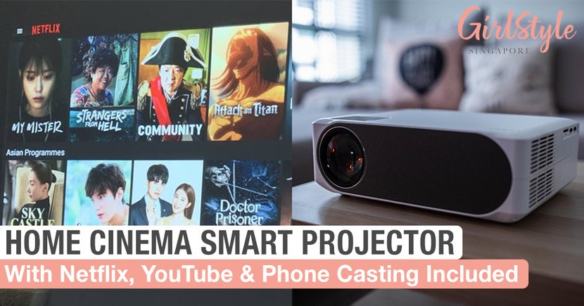 This Projector Turns Your HDB Into A Cinema For Just $398, Includes Netflix, YouTube & Phone Casting