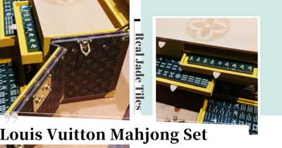 Louis Vuitton's New Luxury Mahjong Set Is Made Of Jade & Comes In A Monogram Trunk
