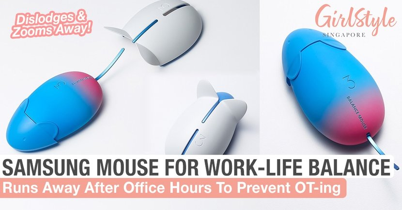 The Samsung Balance Mouse Literally Runs Away If You're Working Too Much, Great For S'porean OT-ers