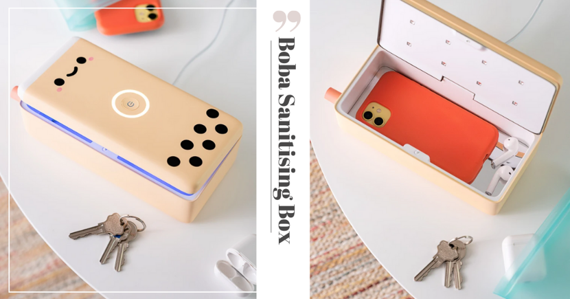 There's A New Boba-Themed Sanitiser Box To Keep Your Phone & Keys Clean In This Pandemic