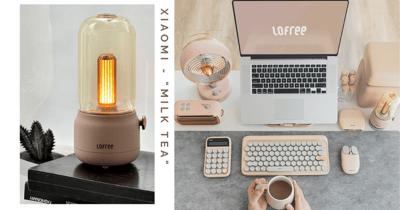 Xiaomi's Lofree Has Milk Tea Range Of Tech Items Including Keyboard, Speaker & Lamp