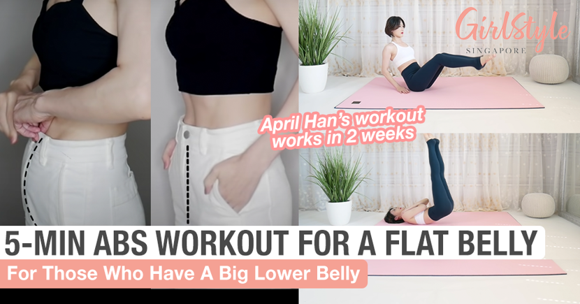 Get Rid Of Lower Belly Fat With April Han's 5-Min Abs Workout You Can Do At Home