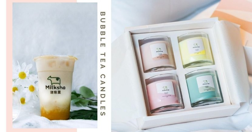 Milksha Singapore Selling Bubble Tea-Scented Candles In Pastel Colours Great As Christmas Gifts