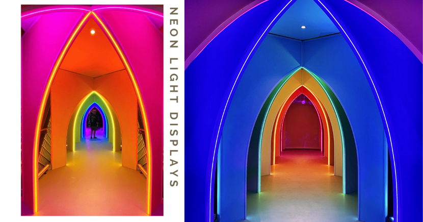 Downtown East Has Dazzling New Neon Light Installations Including A Rainbow Tunnel, Till Mar 2021