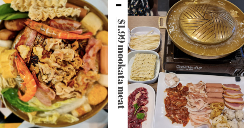 Thai Eatery At Hougang & Jurong Is Having $1.99 Promo For All Mookata Meat Trays