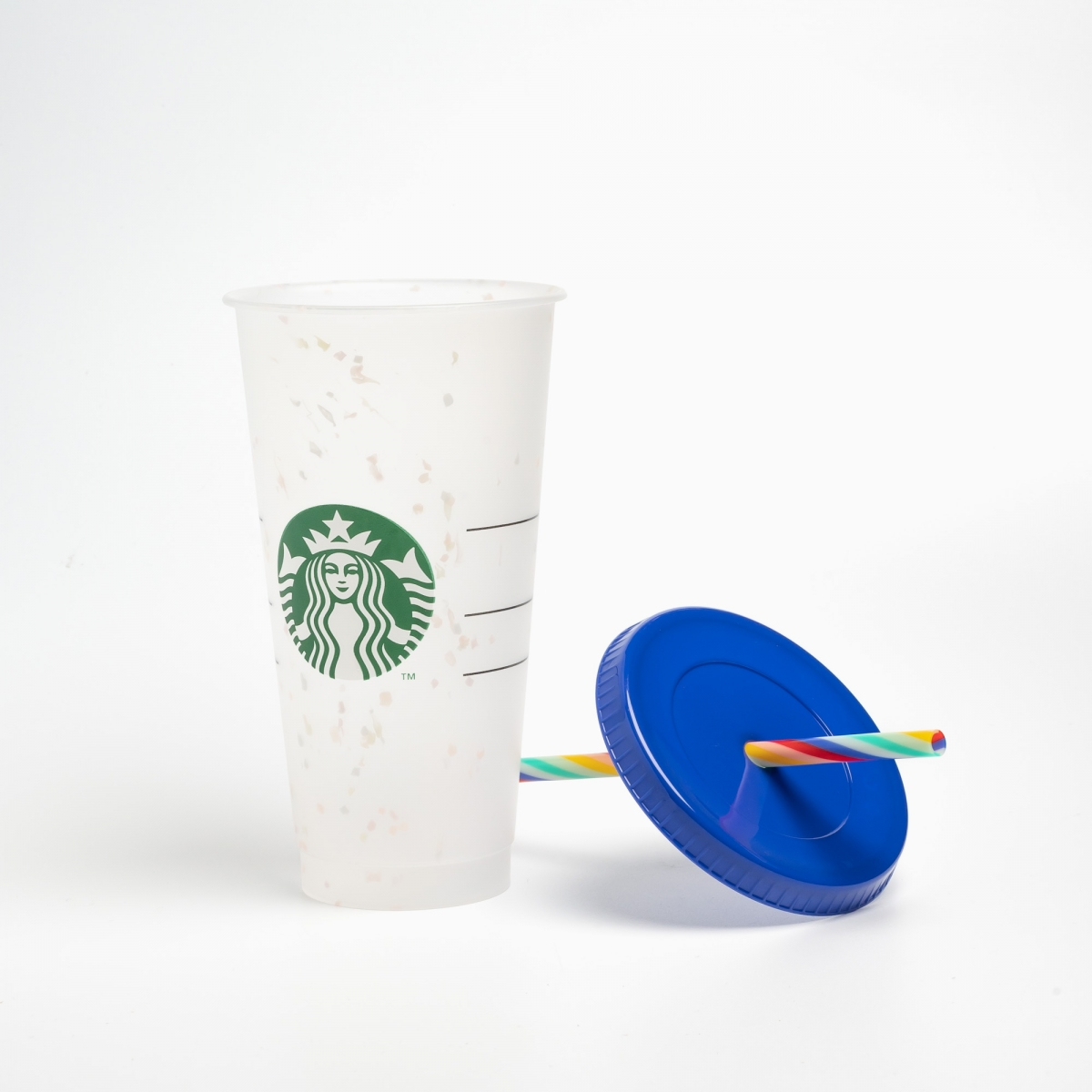 Starbucks Color-changing Confetti Cold Cup with Rainbow Straw