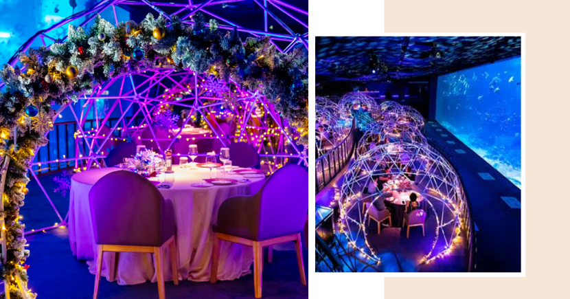 SEA Aquarium's Underwater Dome Dining Is Back With New Christmas Theme & Festive Menu