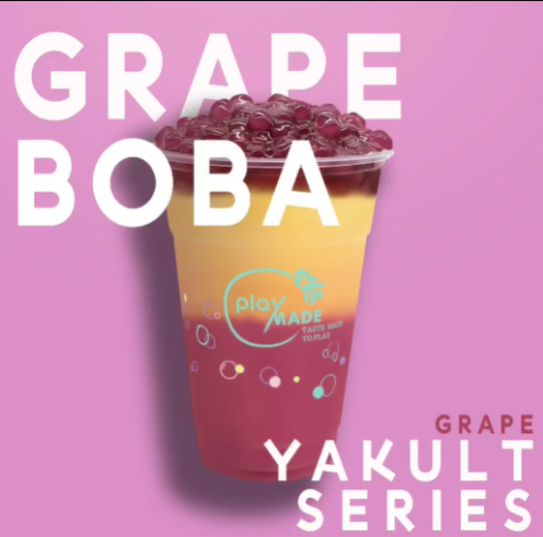 Playmade Grape Yakult with Jasmine Green bubble tea