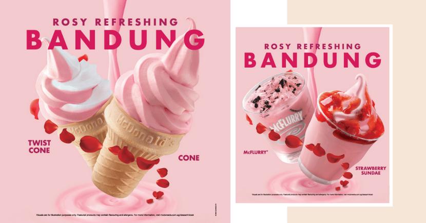 McDonald's Singapore Now Has Gorgeous Pink Bandung McFlurry, Sundae, & Ice Cream Twist Cone