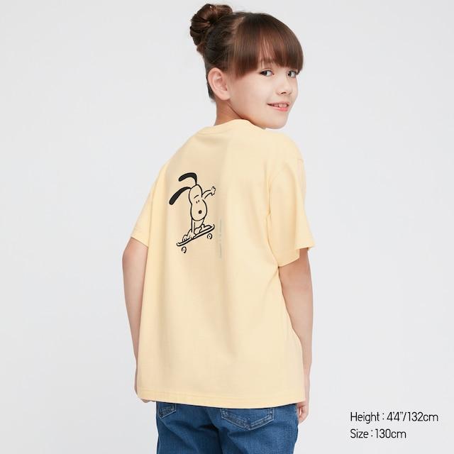 kids Peanuts X Yu Nagaba UT Graphic t shirt in yellow