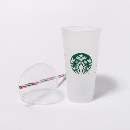 starbucks cold cup candy cane straw
