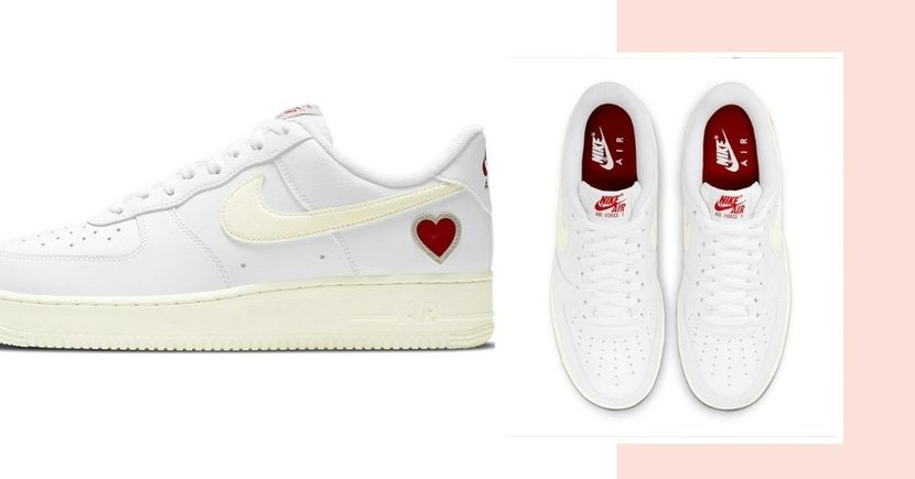 New Nike Air Force 1 Valentine's Day Sneakers With Heart Motif Dropping In 2021