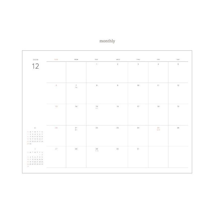 plain minimalist Dash & Dot 2021 Wish Diary