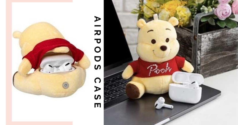 Your AirPods Will Never Get Lost In Your Bag Again With This New Winnie-The-Pooh Plush Toy AirPods Case