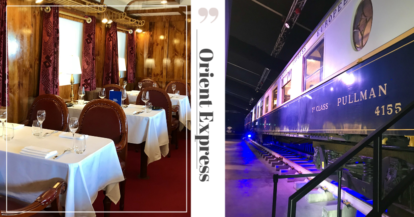 Inside The Pop-Up Orient Express Exhibition At Gardens By The Bay With A Replica Train Carriage Restaurant