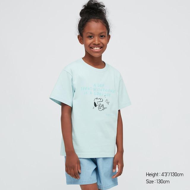 kids Peanuts X Yu Nagaba UT Graphic t shirt in blue