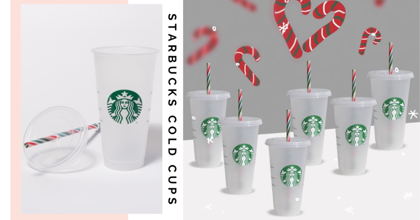 New $4.80 Starbucks Singapore Cold Cups With Candy Cane Straws Are Available Exclusively Online