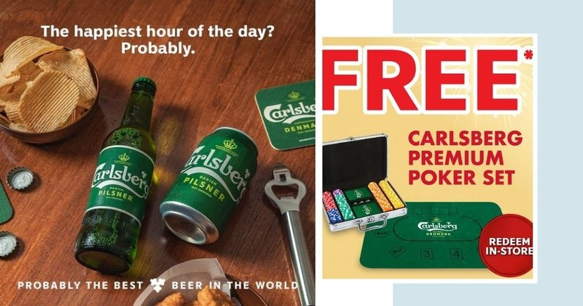 Get A Free Premium Poker Set With Chips Just In Time For CNY When You Purchase Carlsberg Beer